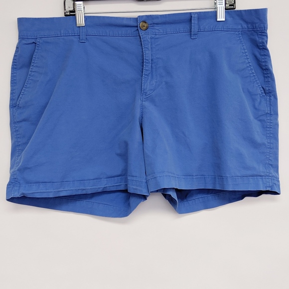 Old Navy Pants - old navy | blue chino cotton stretch shorts sz 16